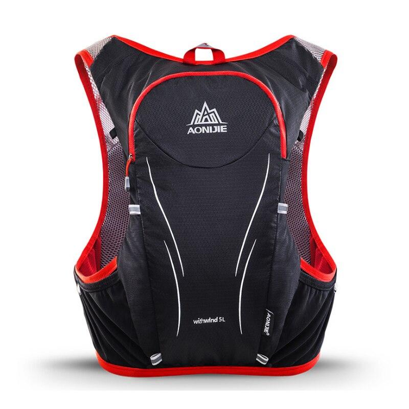 AONIJIE 5L Degli Uomini Delle Donne Maratona Idratazione Maglia Pack Per 2L Sacchetto di Acqua Escursioni In Bicicletta Escursionismo Sacchetto di Sport Esterno Corsa e Jogging Zaino - 2