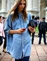 Hot  Girl's Jean Jackets Slim Fit Tops Women's Casual Cool Denim Coats NEW  Boyfriend Long Sleeve Loose Jean Jacket
