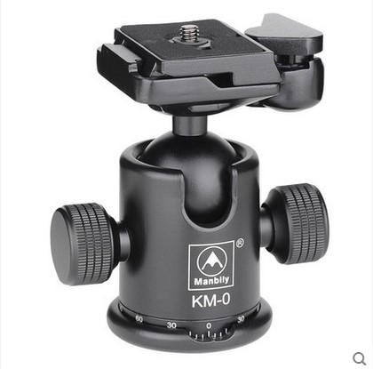 Manbily KM-0 Professional Tripod Head Aluminum Alloy Camera Ball Head Panoramic Head Sliding Rail Head Max Load Capacity 15kg