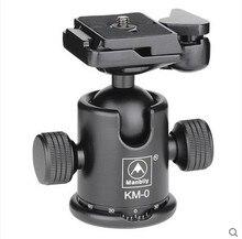 Manbily KM-0 Профессиональный Штатив Глава Алюминиевого Сплава Камеры Шаровой Головкой Панорамной Головки Рельс Головы Максимальная Емкость Нагрузки 15 кг