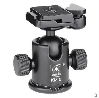 Manbily KM-0 Professional Tripod Head Aluminum Alloy Camera Ball Head Panoramic Head Sliding Rail Head Max Load Capacity 15kg