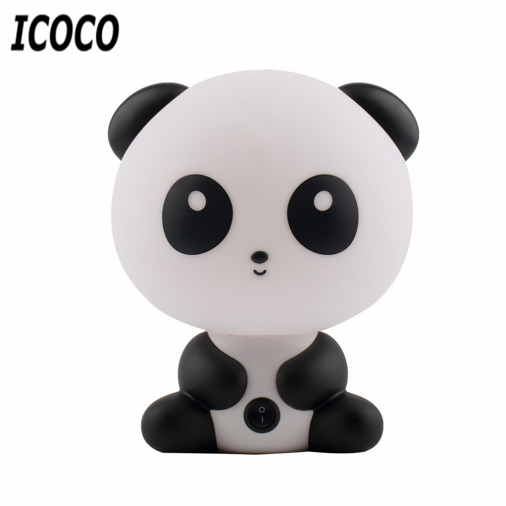Luminaria Novelty Lamparas Lampe Cute Panda Cartoon Animal Night Light, Kids Bed Desk Table Lamp Sleeping led Night Lamp Gift novelty led night light wireless remote control dimmable night lamp rgb kids children desk table lights usb 5v