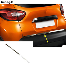цена на Car styling cover detector Stainless steel Rear door bottom Tailgate frame plate trim lamp 1pcs For Renault Captur 2015 2016