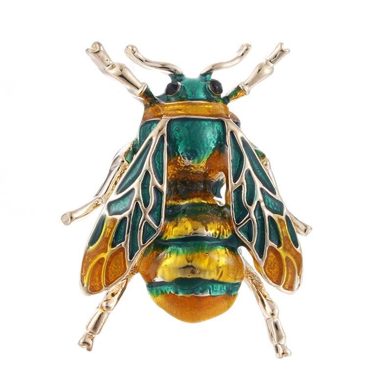 Пчела, жук, краб, муравьи, улитка, броши с птицами, Скорпион, стразы, Винтажные Украшения в виде животных, брошь - Окраска металла: 4