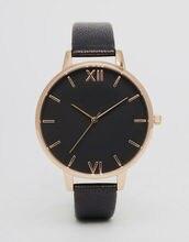 New Womens Quartz WristWatch Clock Gift Leather Black Luxury Rose Gold Ladies Watch 2019