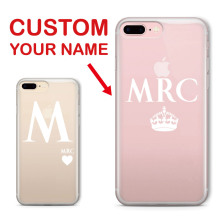 TOMOCOMO Monogram Initials Personalized Custom Name Heart Crown Soft Phone Case For iPhone 6 6S XS Max 7 7Plus 8 8Plus X SAMSUNG 2016 fashion love humour gambling sexy romance erotic craps adult sex funny dice sex toys adult sex games fsex058