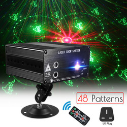 48 Pattern Laser Projector Remote/Sound Controll Christmas Stage Light RGB KTV DJ Party Disco Light For Christmas Decoration