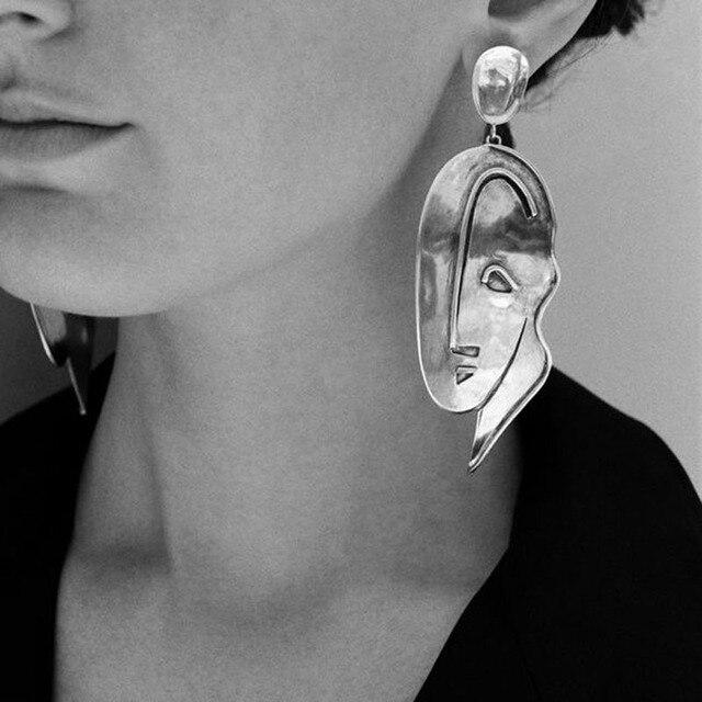 Cosstore новые стильные артсы лицо контур висячие серьги Tide девушки шик длинные серьги Винтажные Ювелирные изделия лицо Серьги