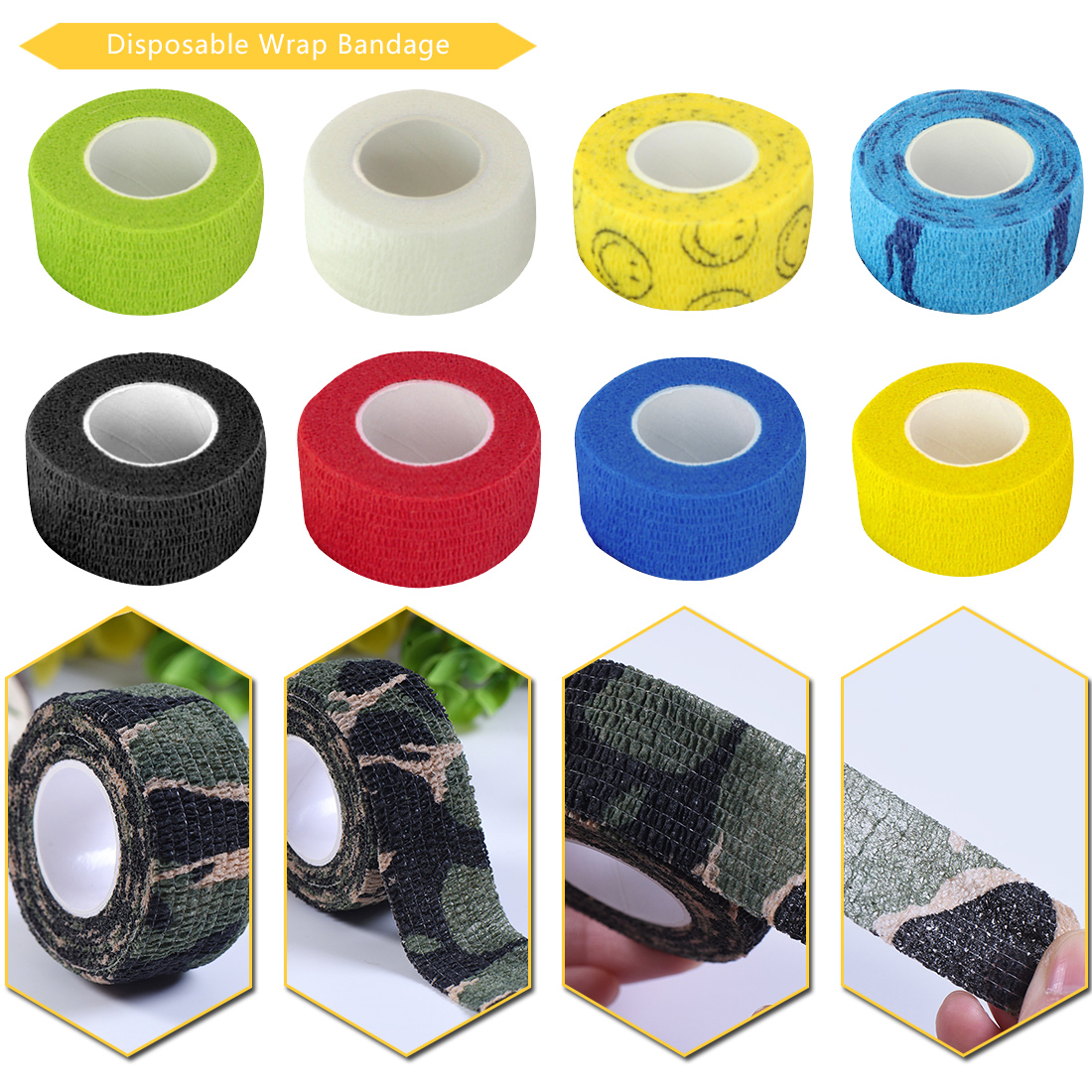 Hot Finger Wrist Protection Medical Tape Disposable Nonwoven Waterproof Self Adhesive Elastic Bandage Tattoo Accesories Grip Wra