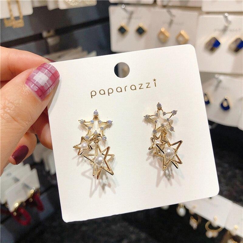 Женские серьги капельки с кристаллами mengjiqiao новые корейские