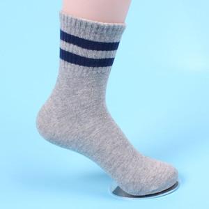 Детские носки в Корейском стиле, хлопковые носки в полоску для мальчиков и девочек на осень и зиму, носки для детей, 3 пары/Лот, 2019