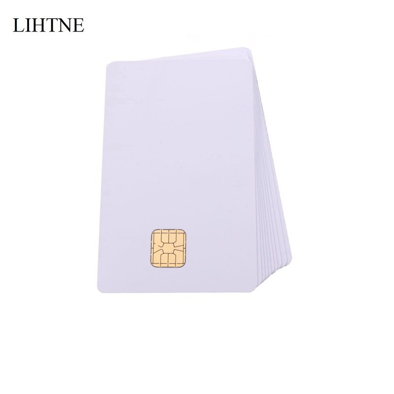 100PCS/lot SLE 4428 Chip Smart Contact IC Cards Blank PVC IC Cards winfeng 2000pcs lot cmyk color pvc snap off keychain combo cards plastic die cut combo cards with barcode