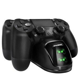 Image 4 - Gamepad chargement rapide PS4 Dock double contrôleurs chargeur Station de charge support Base pour PS4/Pro/Slim