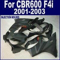 ABS Мотоцикл Дорога обтекатели комплект для Honda CBR 600 F4i обтекатель комплект 2001 2002 2003 CBR600F4i 01 02 03 матовая черный Кузов части