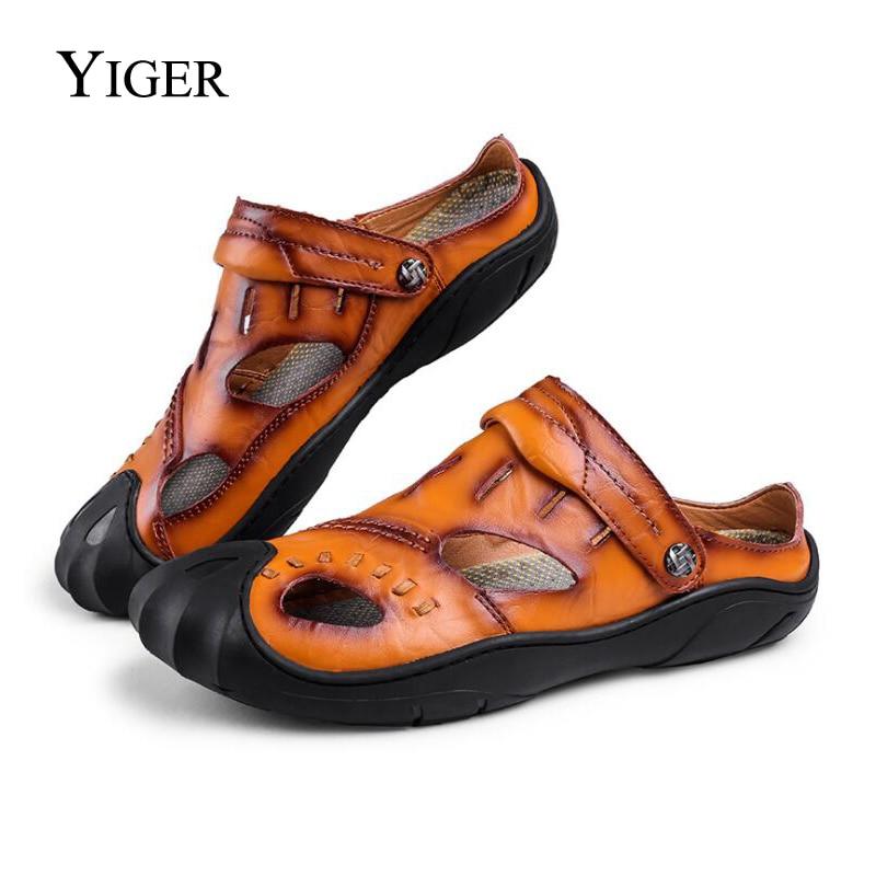 YIGER nova muška odjeća Sandals Leisure Originalna koža Casual - Muške cipele - Foto 6