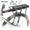 West biking 50 kg kapazität fahrradträger hochfesten fahrradträger straße mtb radfahren scheibenbremse/v-brake fahrrad racks für fahrradsattel