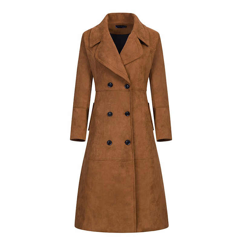 XSJPZH 2017 New Fashion Autumn Winter Suede Trench Coat ...
