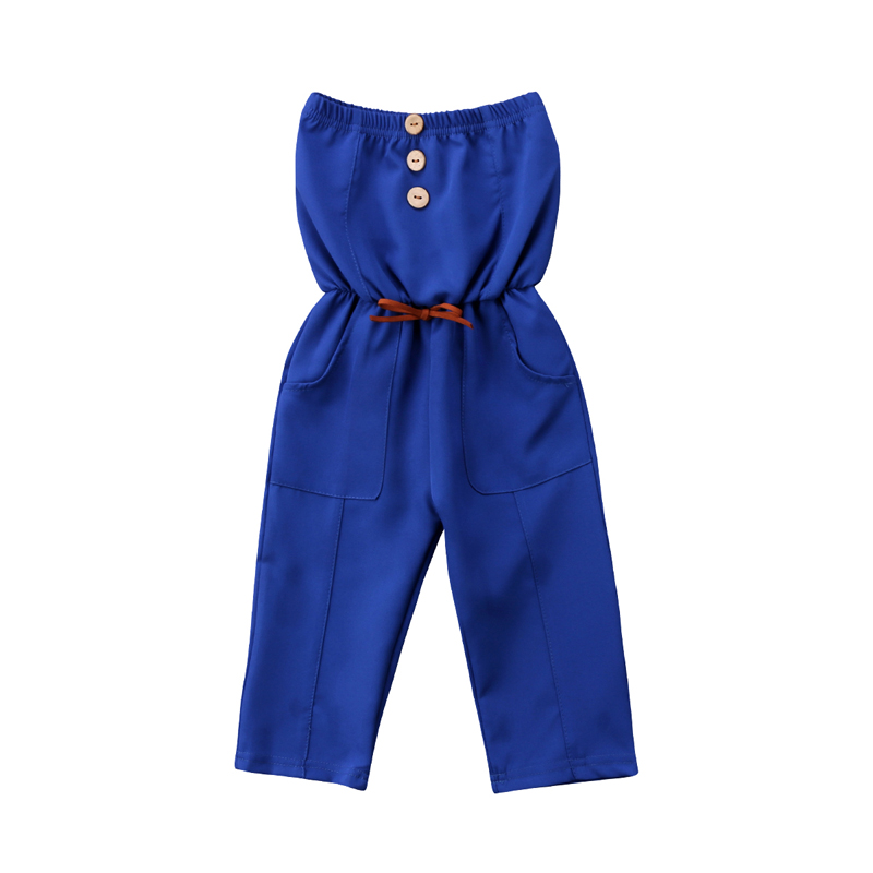 New Fashion Kids Toddler Baby Girl Romper Clothes Tube Top Piece Corset Belt Pants Jumpsuit Outfits Summer