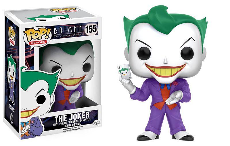 Official Funko pop <font><b>Batman</b></font> Heros The <font><b>Animated</b></font> <font><b>Series</b></font> <font><b>Joker</b></font> #155 Vinyl <font><b>Action</b></font> <font><b>Figure</b></font> Collectible Model Toy with Original Box