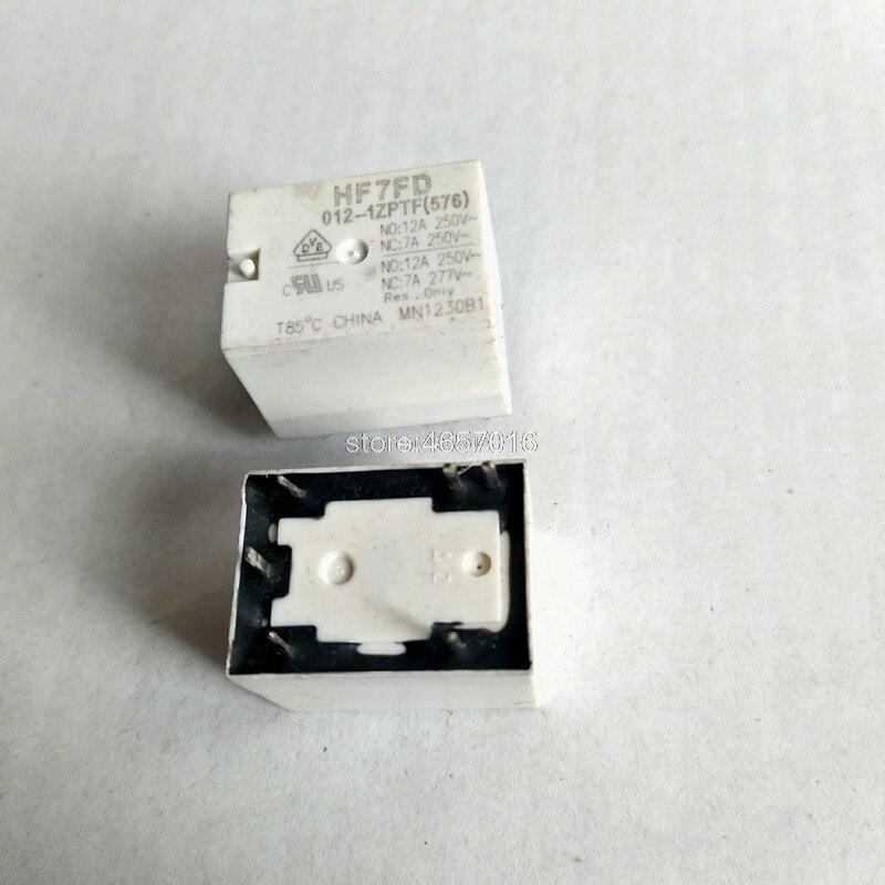 5 шт./лот HONGFA реле HF7FD-012-1ZPTF HF7FD 012-1ZPTF (576) 4123-1C-12V-6P-12A