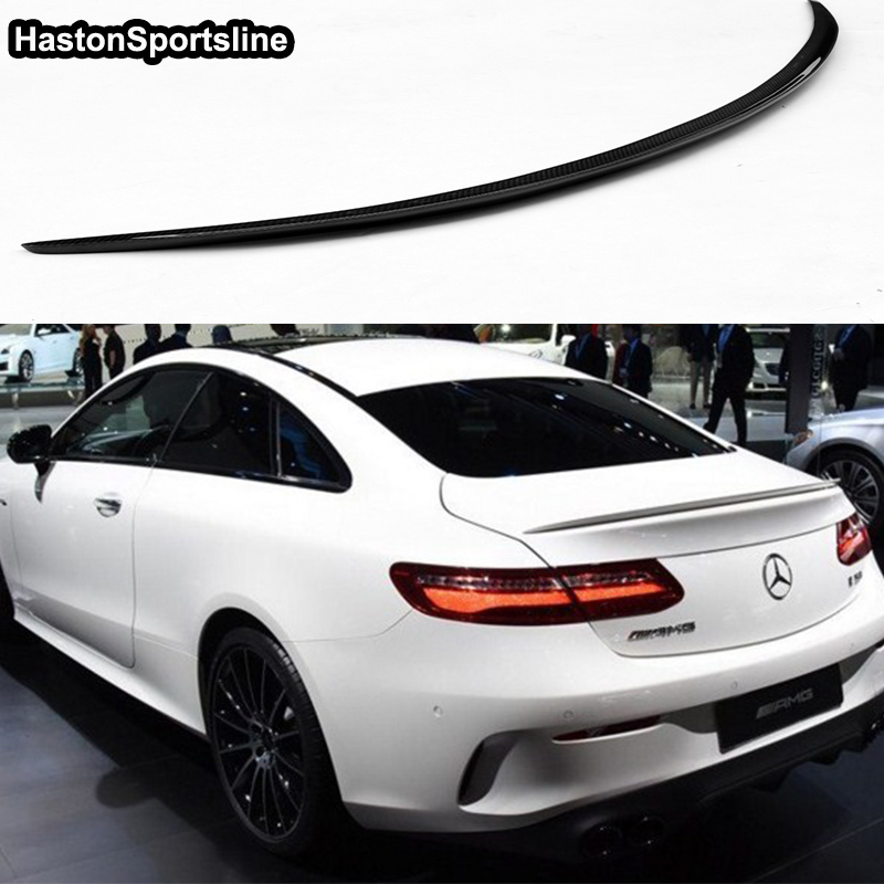 W238 <font><b>C238</b></font> E250 E400 E500 E550 E Class Carbon Fiber AMG Style Auto Car Rear Trunk <font><b>Spoiler</b></font> Wing for Mercedes Benz 2017-2019 image