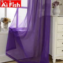 Window Treatment Romantic All-match Wedding Ceiling Drapes Soft Multi Color Blinds Curtains For Living Room Tulle A184-40 cheap Solid Hospital Cafe Home Office Hotel Left and Right Biparting Open Woven Translucidus (Shading Rate 1 -40 ) French Window