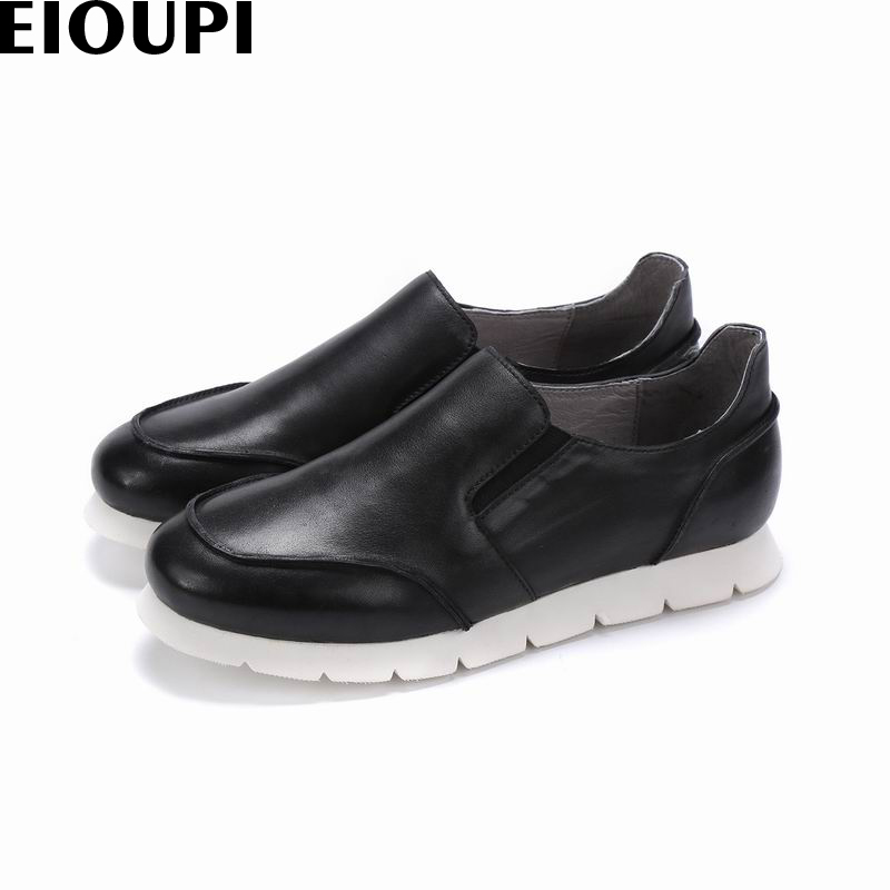 EIOUPI new design genuine real leather mens fashion business casual retro shoe breathable men shoes e113 free shipping leather car floor mat for chevrolet sail 2nd generation 2010 2011 2012 2013 2014 2015 2016