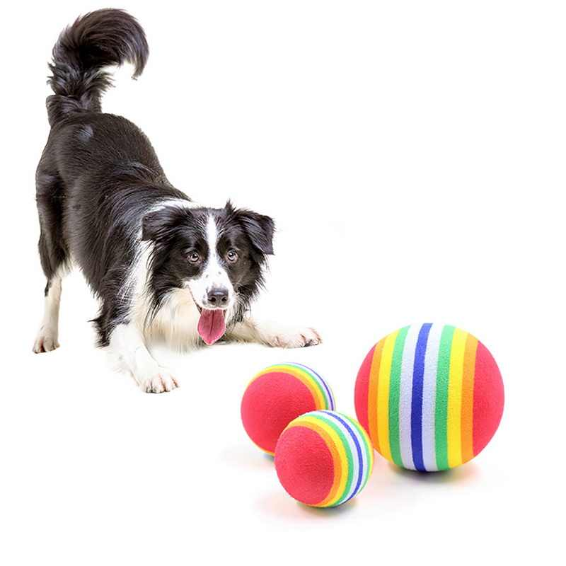 Cane Gatto Giocattoli 3.5 CENTIMETRI Colorful Giocare Palle Per Gli Animali Domestici Prodotti Caldi di Vendita 2019 di Nuovo Modo Divertente Dell'animale Domestico Del Giocattolo Del Bambino