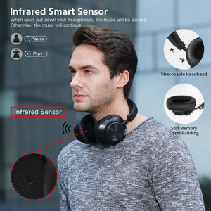 Image 5 - Bluedio T6S Bluetooth Headphones Active Noise Cancelling  Wireless Headset for phones and music with voice control