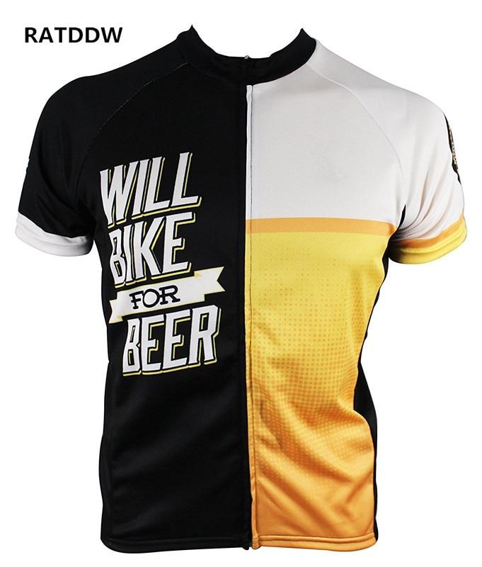 Prix pour Seront Vélo pour La Bière Hommes Vélo Jersey D'été manches courtes vélo vélo Clothing Noir jaune blanc