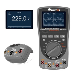 Image 4 - NEWEST MUSTOOL MDS8207 2 in 1 Intelligent Digital Oscilloscope Multimeter One Key Auto Tester 40MHz 200Msp with Analog Grap