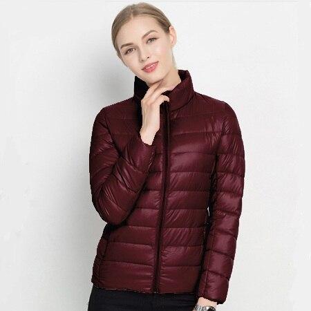 2018 зимнее пуховое пальто для женщин теплый шик мужские парки Твердые Стенд 90% белая утка куртки с длинными рукавами легкий тонкий осен