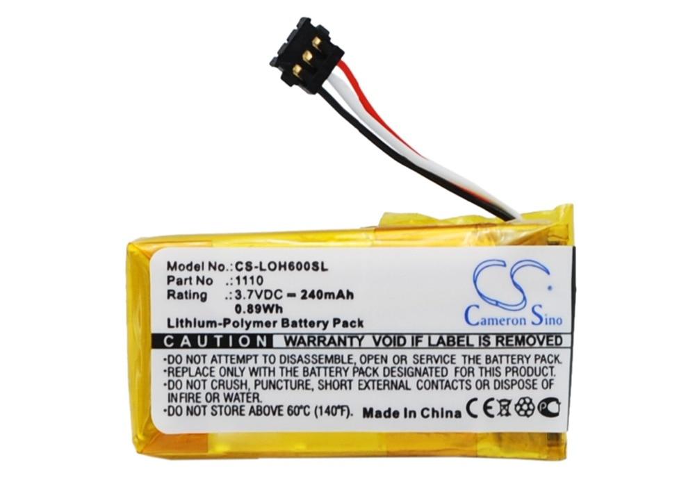 Brillante Batería 240 De 1110 Mah Para Logitech H600 Aliviar El Calor Y La InsolacióN