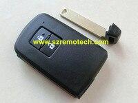 Gratis Verzending Hoge Kwaliteit 2 knop afstandsbediening sleutel Shell Smart kaart Leeg Fit Voor Toyota afstandsbediening sleutelhanger met emergency sleutel