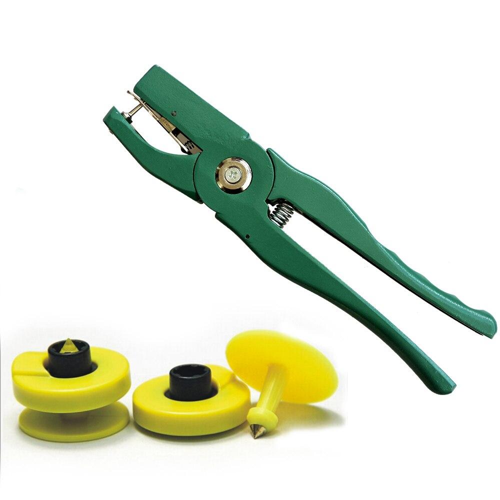 100pcs ISO11785/84 Animal Quarantine Management Ear RFID Tag, Cattle Ear Tags ,125-134.2KHZ Chip EM4305+1 Ear  Pliers