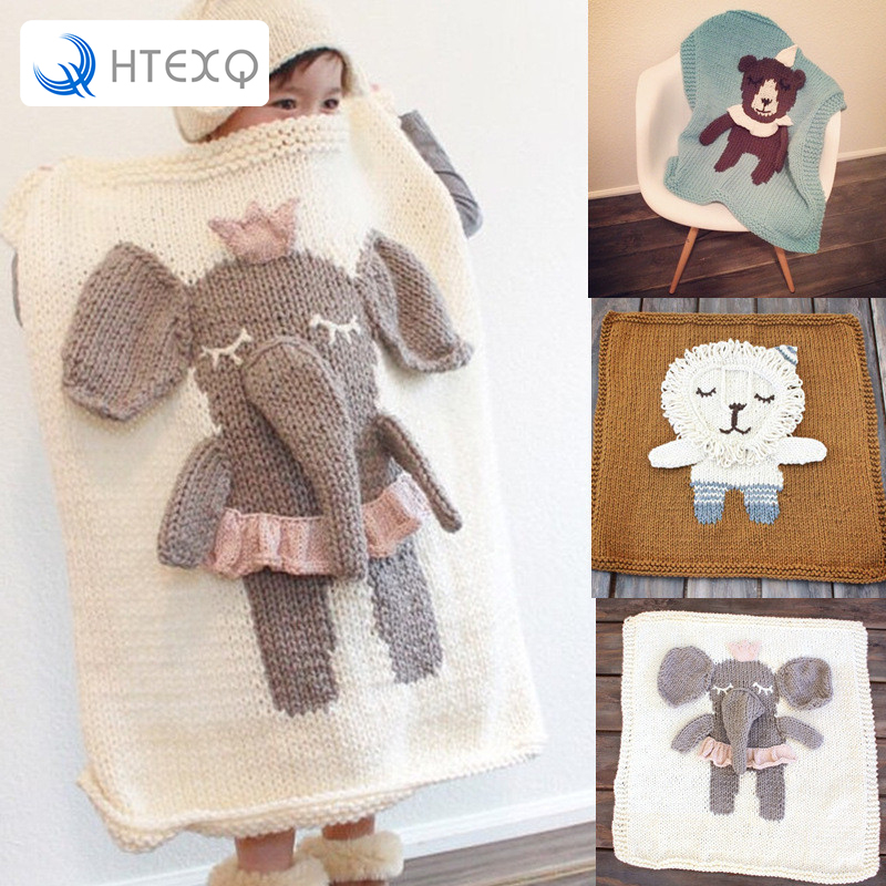 Children Blankets Super Soft Crochet Summer 90 Cm X 90 Cm Animal