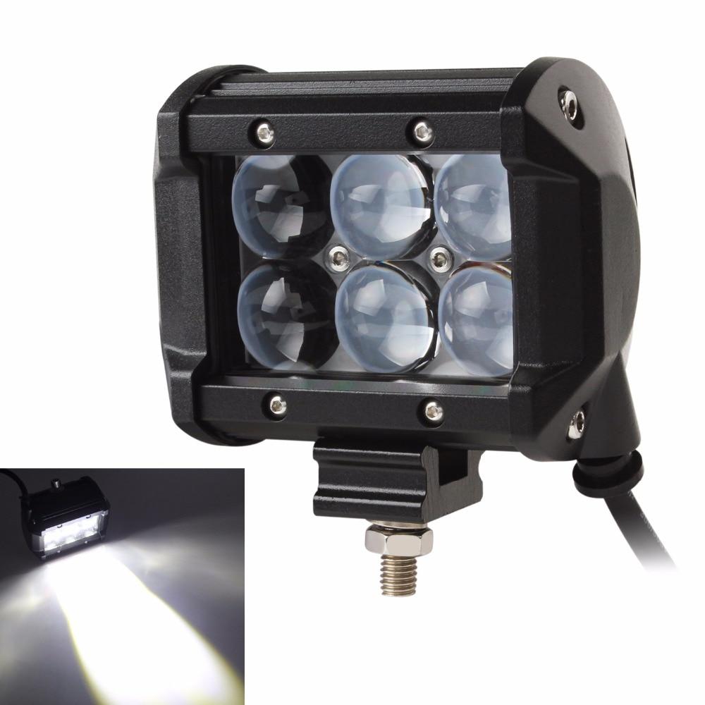 4 Inch 30W Car LED Work Light Offroad Driving Fog Lamp Car Motorcycle Bicycle SUV ATV 4WD 4X4 UTE Auto UTV Spot Flood Headlight