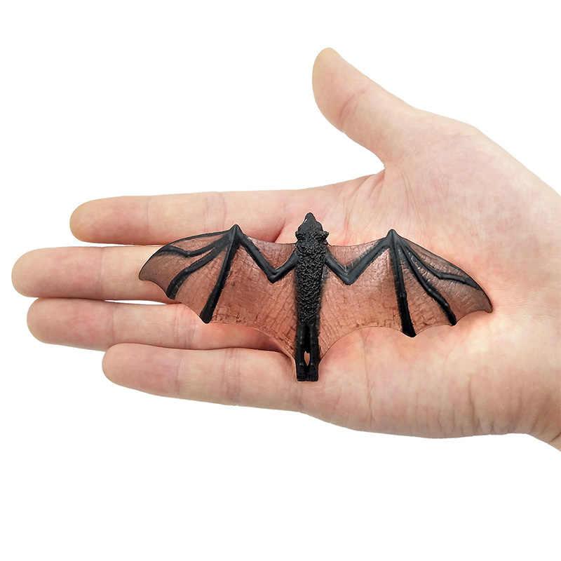 Pequeno Simulação kawaii floresta Frilled Lagarto Morcego figuras modelo para casa acessórios de decoração estátua ação brinquedos figuras de animais