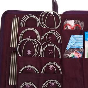Image 4 - Juego de agujas de tejer circulares de acero inoxidable, 20 tamaños diferentes, agujas de tejer circulares, 104 Uds.