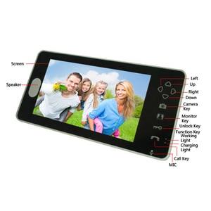 Image 3 - Hot 2,4G wireless video türklingel drahtlose tür video intercom telefon tür glocke intercom Kamera 7 zoll monitor schwarz weiß farbe
