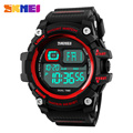 SKMEI 1229 Men Big Dial Digital Sport Watch Countdown Chronograph Alarm Back Light 50m Water Resistant Wristwatches
