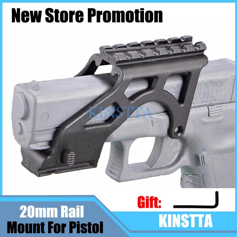 KINSTTA Tactical Laser Flashlight MAKO PRO GIS Rail Mount With Picatinny Rail For Glock Pistol 17 19 20 21 22 23 34 Gen 3 & 4
