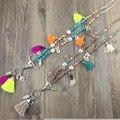 Новое поступление бирюзовый камень ручной работы из бисера кисточкой ожерелье boho стиль завязанная ожерелье на лето женщины ювелирные изделия