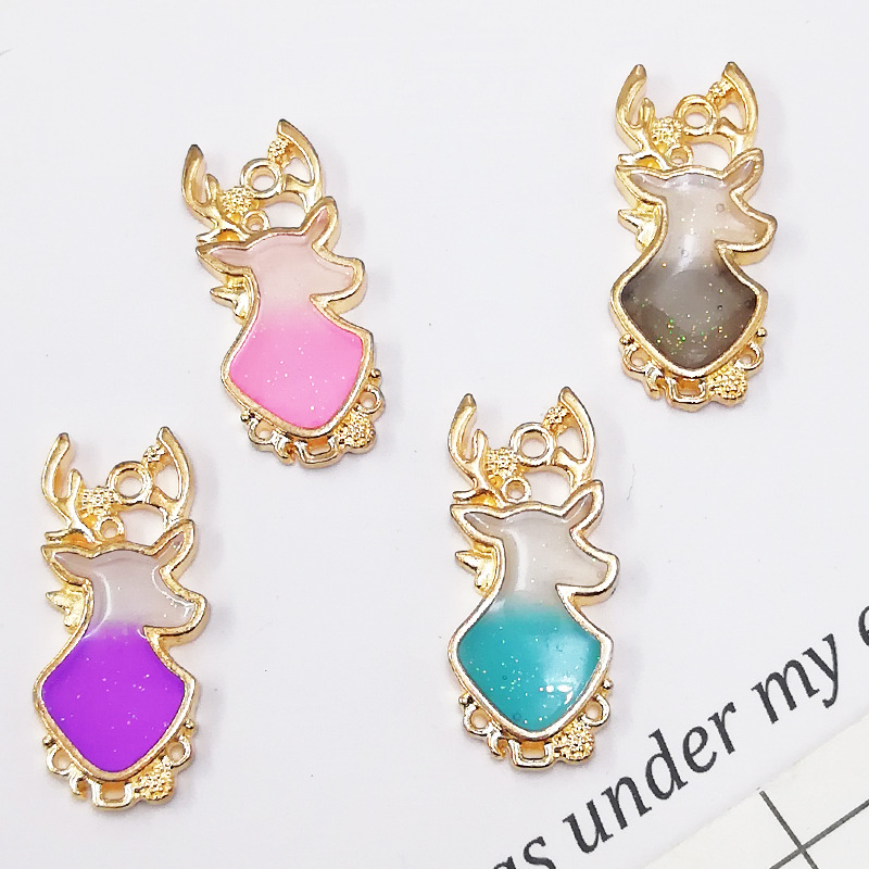 Jewelry & Accessories 10pcs Handmade Diy Charm Oil Drip Alloy Pendant Flash Powder All Saints Hat Pumpkin Pearl Earrings Enamel Pendant Materials