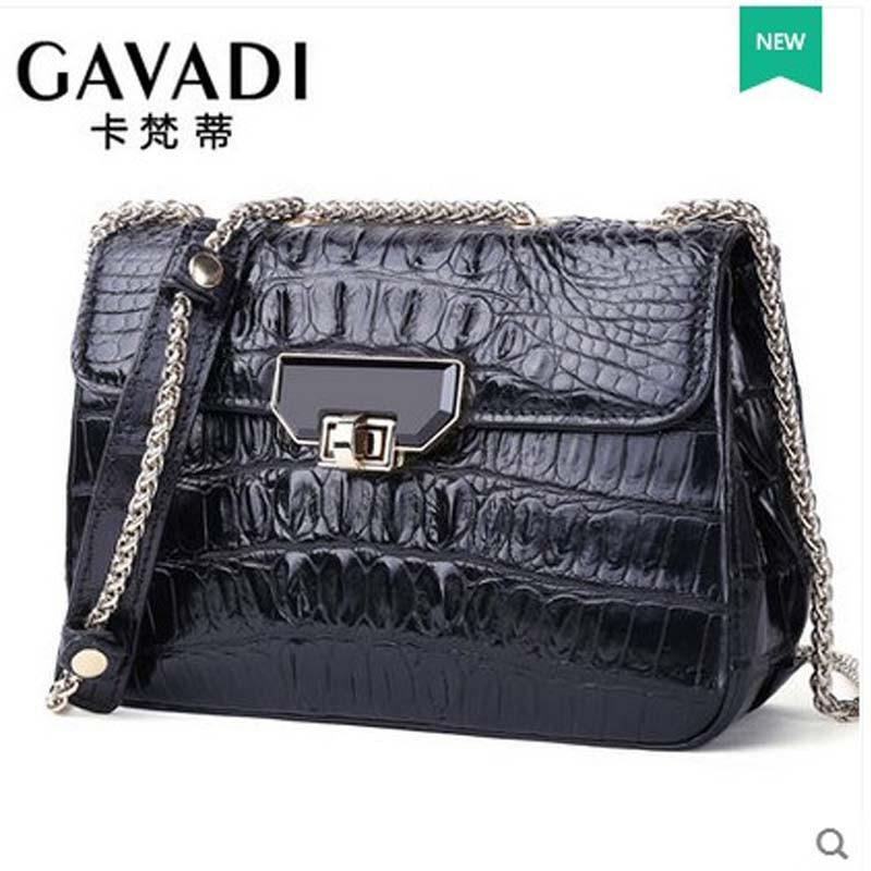 kafandi new style single shoulder bag fashion women bag luxury crocodile leather women chain bag women small flap