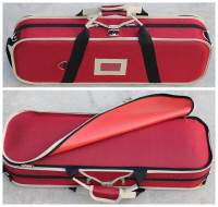 Lark Violin Case (4/4). Lightweight & Sturdy.Biconvex violin box, installed hygrometer, high quality carrying case.