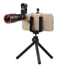 лучшая цена APEXEL 12X Zoom Phone lens Universal Telephoto Camera Lens with tripod holder for iPhone Samsung Xiaomi HTC HUAWEI phone lens