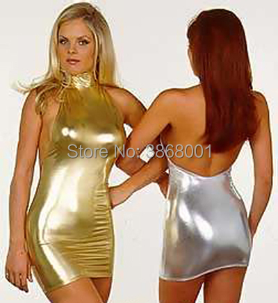 Brand WaterMonkey Halloween Costumes Sexy Women's gold Shiny Metallic Spandex Zentai Catsuits Fantasy Carnival Costume