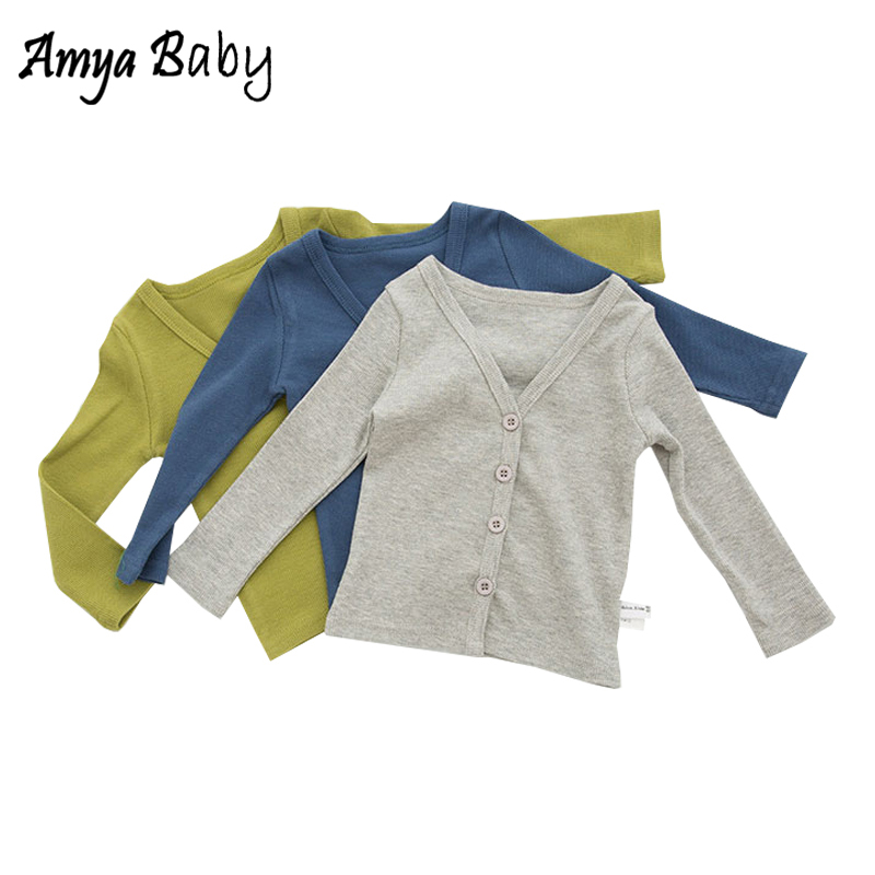 AmyaBaby Baby Girl Autumn Jackets Cotton Cardigan Baby Boy Coats Kids Clothes Infant Outerwear Boys Girls Jackets And Coats 2018