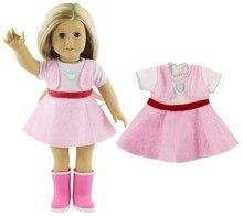 цена Fashion Doll Dress Package Hip Skirt for Handmade Dolls Accessories Dresses Set for 18inch American Girl Clothes b709 онлайн в 2017 году